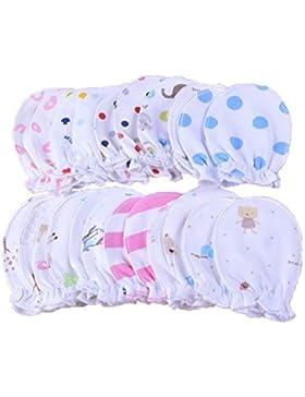 wyhweilong 5 Paar Neugeborene Baby Fäustlinge Säugling Pastell Kratzer Baumwolle Fäustlinge 0-6 Monate