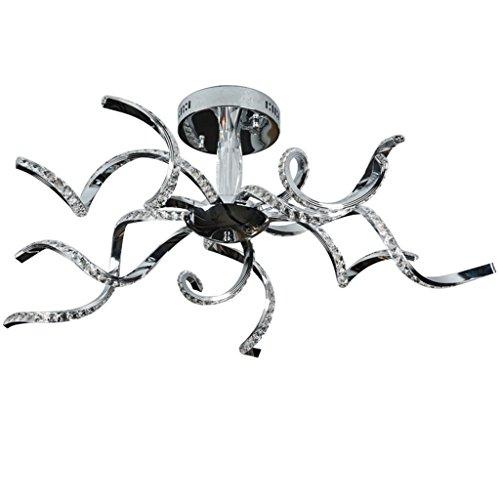 WCUI Kristall Kronleuchter, kreativ Led Ring Restaurant Schlafzimmer K9 Level Kristall Kronleuchter unregelmäßige klebrige Kronleuchter Höhe einstellbar 90 * 90 * 25cm Wählen ( größe : 90*90*25cm ) - Hohe Kristall-kronleuchter