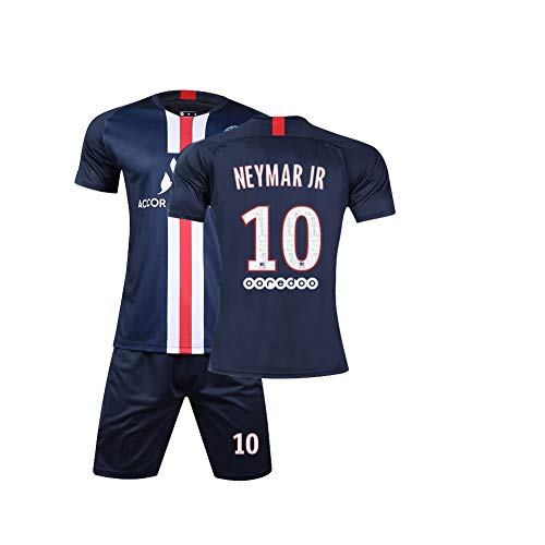 BEFGHT Set fußball Trikots Neymar JR 10, Home Jersey fußball Club Saison 19-20, Sport Tragen geeignet für Jungen und Erwachsene -