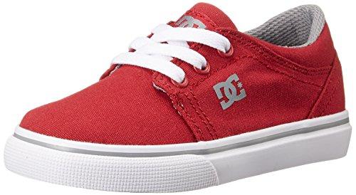 DC Trase TX Skate Shoe (Toddler/Little Kid/Big Kid), Red/Grey, 10.5 M US Little Kid Red/Grey