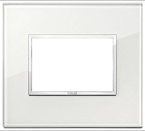 Vimar serie eikon evo–placca 3moduli vetro serie eikon bianco.diamante