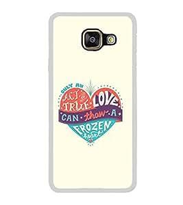 PrintVisa Designer Back Case Cover for Samsung Galaxy A7 (6) 2016 :: Samsung Galaxy A7 2016 Duos :: Samsung Galaxy A7 2016 A710F A710M A710Fd A7100 A710Y :: Samsung Galaxy A7 A710 2016 Edition (Love Quote Act True Frozen Heart)