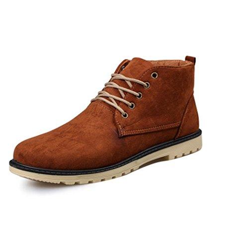 Heart&M Men es kausale hochgeschnittene halten warm Wildleder Leder/Martin Schuhe Stiefel light brown
