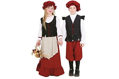 Bauernmädchen Kostüm Halloween (Kinder-Kostüm Bauern-Mädchen, Gr.)