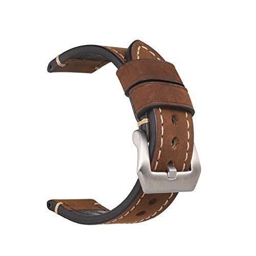 Handgefertigtes Retro Uhrenarmband aus echtem Leder für Uhr 20mm 22mm 24mm 26mm Uhrband Mit Silber Edelstahlschnallen Henziy-Uhrenarmband-Strap3472