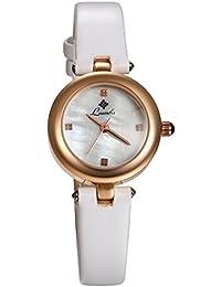 5dd245dfed94 LANCARDO Reloj Analógico para Mujer Cuarzo de Seiko Original Correa de  Cuero Ajustable Pulsera Elegante Casual
