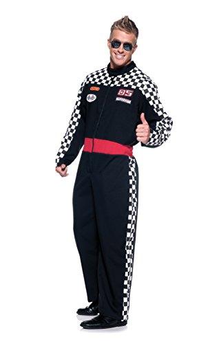Driver Car Kostüm - Underwraps Mens Race Car Driver Fancy Dress Costume X-Large