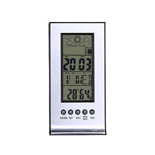 Preisvergleich Produktbild Indoor-Outdoor-Funkwetterstation Wecker Snooze-Prognose Kalender