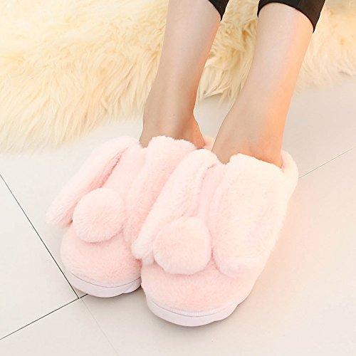 Pantoufles de coton pour enfants Lhiver peut être chaussons chauds dintérieur Pack avec des pantoufles pour enfants 4 couleurs disponibles Taille facultative ( Couleur : C , taille : 18code(16cm) ) D