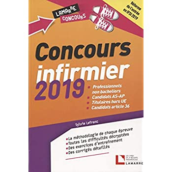 Concours infirmier 2019: Professionnels non bacheliers. Candidats AS-AP. Titulaires hors UE. Candidats article 36