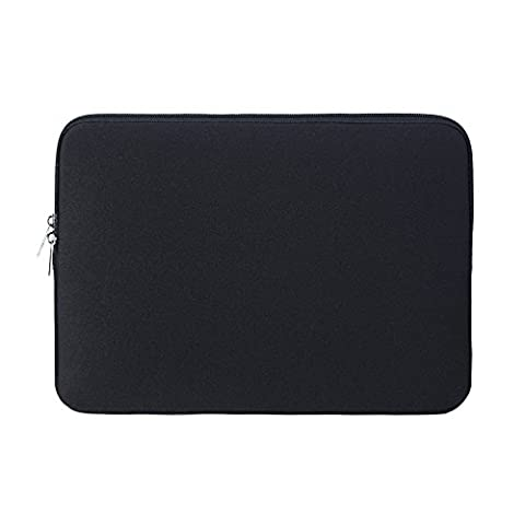 RAINYEAR Soft Neoprene Laptop Sleeve Slim Protective Padded Sleeve Bag Case For 15.6 Inch Laptop Notebook Tablet Ultrabook Of Dell/HP/Lenovo/Asus/Acer/Samsung(Black)