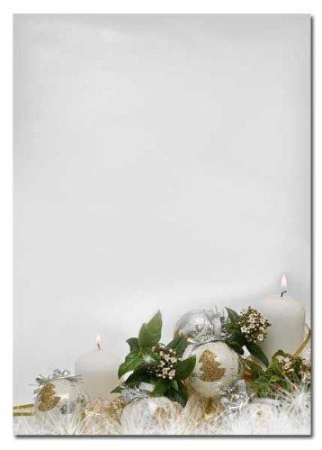 Briefpapier – Weihnachtsmotiv FROHES FEST 25 Blatt DIN A4 90g/m²