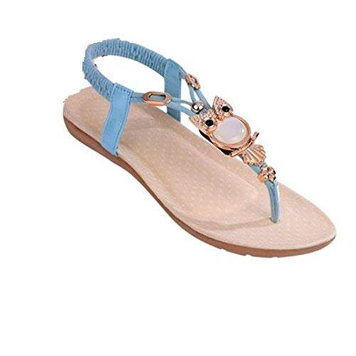Azul Verão Xinan Sandálias De Senhoras Praia Sapatos OFqwA