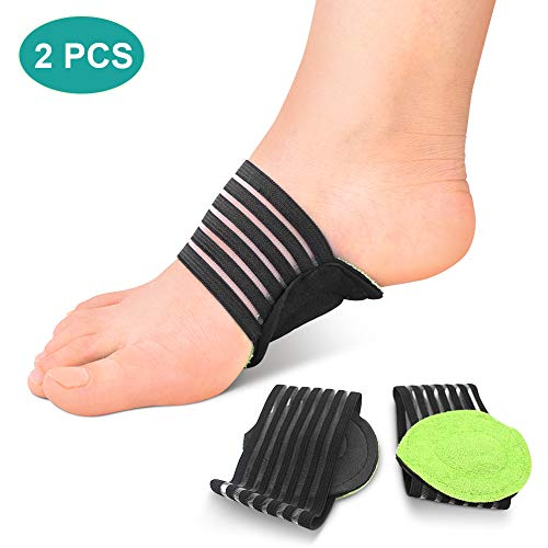 Fußgewölbe Bandage Elastische Fußbandagen, Einlegesohlen Fuß Schutz Bogen Unterstützung Orthotics Auflage für Plantarfasziitis, Plattfüße, Vorfuß Schmerzlinderung, für Damen und Herren -