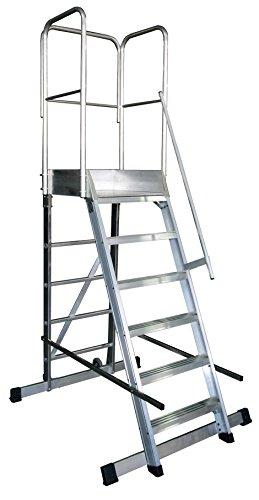 Arcama 1EP60060149 Escalera plataforma móvil industrial, 60 x 60 x 149 cm