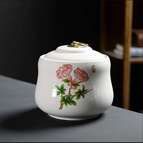 FFDGHB VorratsbehäLter Teedosen Keramische VorratsbehäLter FeuchtigkeitsbestäNdige Haushaltsdosen Im Japanischen Stil Traditioneller Tee In Dosen Kaffee Salz 13 * 12 cm