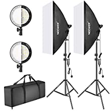 Neewer Photography Bi-Color Dimmable LED Softbox Lighting Kit:20x27 inches Studio Softbox 45W Dimmable LED Light Head with 2 Color Temperature and Light Stand for Photo Studio Portrait Video Shooting