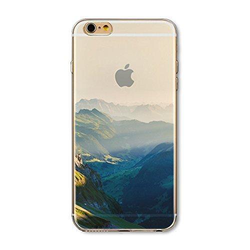 Coque iPhone 6 Plus 6s Plus Housse étui-Case Transparent Liquid Crystal en TPU Silicone Clair,Protection Ultra Mince Premium,Coque Prime pour iPhone 6 Plus 6s Plus-Paysage-style 16 2