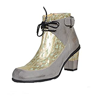 Eject Iris Golden Green Edle Damen Stiefelette, Schuhgröße:38 D/EU
