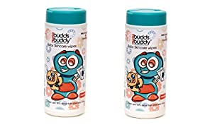 Buddsbuddy Baby Skincare Wet Wipes Combo (2 Packs, 80 Pieces Per Pack)