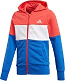 adidas YG Sport ID FZ Vestes de Anoraks Enfant de-reacor/White/hirblu/W, Enfant,...
