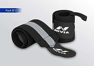Nivia 11041BG Cotton Thumb Wrist Support (Grey)