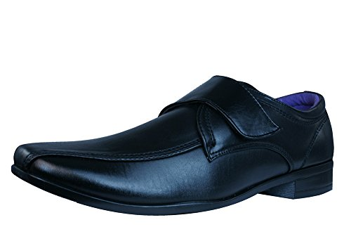 Roberto Giovanni Mick 2 Herren Velcro Schuhe-BLACK-45 (Leder Italienische Giovanni)