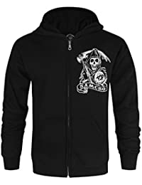Official Sons Of Anarchy SAMCRO Men's Zip Up Hoodie (XL)