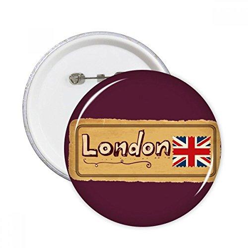 Union Jack UK London Briefmarke Britian Runde Pins Anstecker Button Kleidung Dekoration 5 Stück Geschenk xl mehrfarbig -