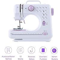Máquina de coser con 16 Nähn punto para principiantes y oberstufen de cerca, ligero y