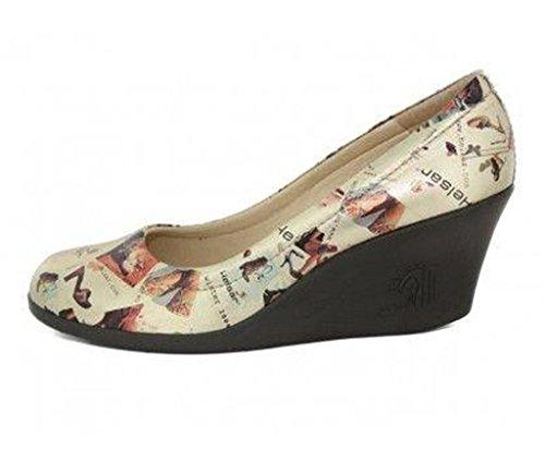 helsar - chaussures compensée femme en cuir femme helsar c43helsar008 Beige