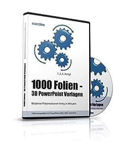 1000 Folien - 3D PowerPoint Vorlagen - Farbe: exact.blue (2016): Moderne Präsentationen für Business, Unternehmen, Existenzgründer, Kommunikation, Marketing, Manager, Redner, Speaker, Personal, Teams etc