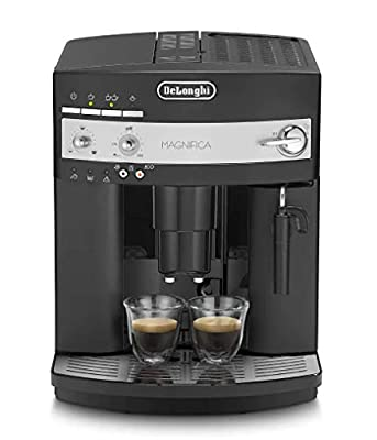 De Longhi Magnifica Esam Coffee Machine, Stainless Steel/Plastic Milk Frother/Automatic Cleaning Program/Adjustable Coffee Spout Magnifica Esam