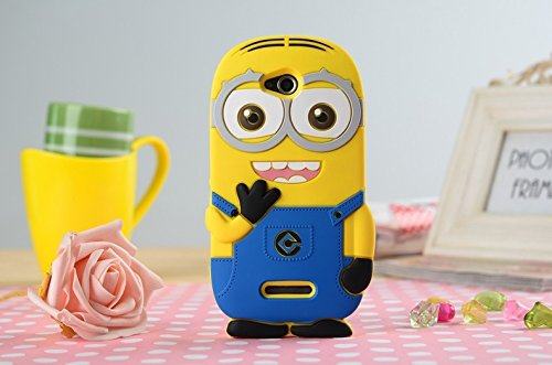 Heartly Cute Cartoon Soft Rubber Silicone Flip Bumper Best Back Case Cover For Sony Xperia C S39H C2305 Double Eye