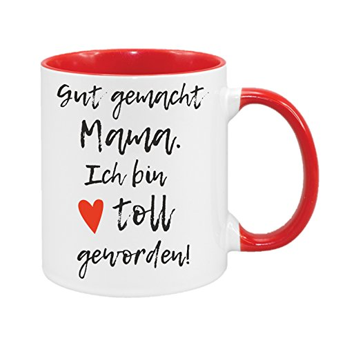 ch bin toll geworden - hochwertiger Keramik-Kaffeebecher - Cups by t? - Kaffeetasse - Spruchtasse - Tasse mit Spruch - Geschenk (Gute Halloween Ideen Für Die Arbeit)