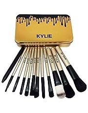 Kylie Makeup Brush Set Set Of 12 Black