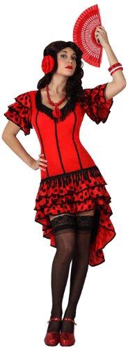 Imagen de atosa  disfraz de sevillana para mujer, talla m/l 15594