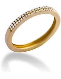 Miore Damen-Ring Memoire 9 Karat (375) Gelbgold mit 0.11ct Brillanten MP9075R