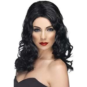 Smiffy's Glamorous Long and Wavy Wig - Black