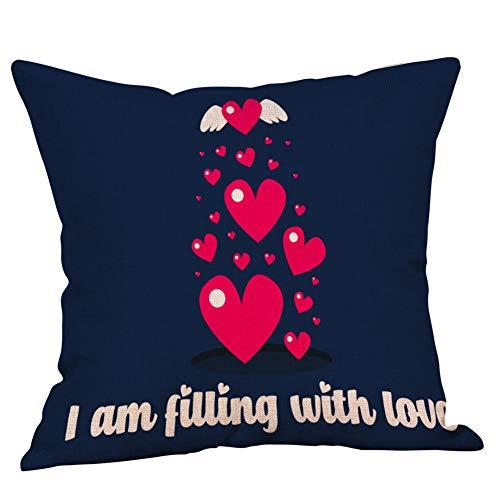 Momoxi Kopfkissenbezug, Valentinstag Polyester gedruckt Sofa Car Home Dekoration Kissenbezug