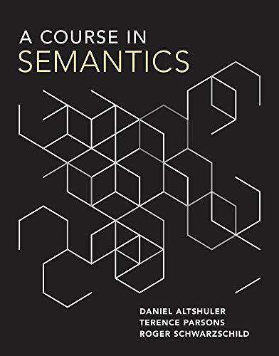 A Course in Semantics (The MIT Press)