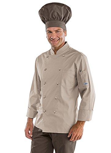 Isacco - Veste professionnelle de cuisinier Haut de Gamme Beige