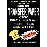 Inyección De Tinta Para Imprimir Metal Sobre Camiseta Y Tela Papel De Transparencia Para Telas Oscuras 5 A4 Láminas