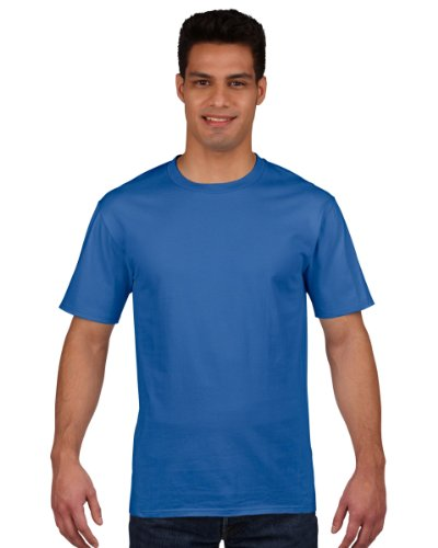 Gildan Premium Ring Spun T-Shirt Cotton Blau - Königsblau