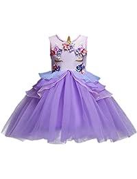 Costume da Principessa Unicorno per Bimba con Vestito Lungo Compleanno  Ballerina Abiti Bambini Carnevale Halloween Cosplay Abito… 22482786972