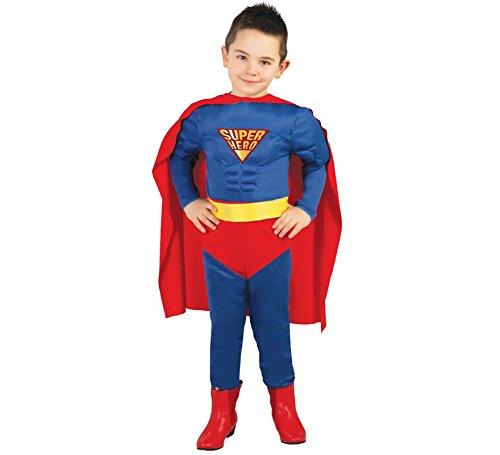 Guirca Super Hero Kostüm für Jungen Gr. 98-146, Größe:98/104 (Super Hero Kostüme)