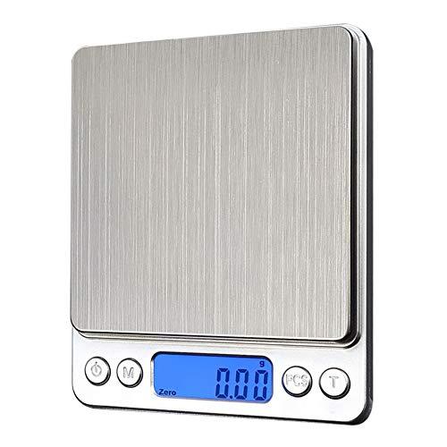 ZHANGYUGE Küchenwaage LCD-Digitale Taschenwaage Schmuck Gewicht elektronischen Waage Waage Home Küche Messwerkzeuge, 500G -0,01 G