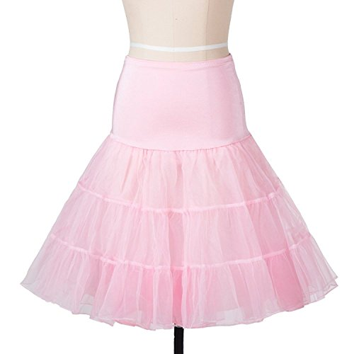 50's Petticoat Underskirt Retro Vintage 1950's Rockabilly White, Black, Red Rosa
