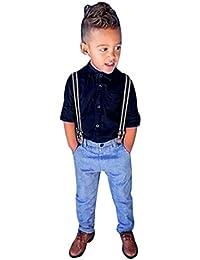 Ouneed® 1-6 ans Garcon Enfant Boucle Salopettes Denim