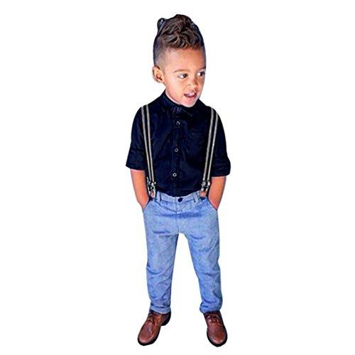 Ouneed® 1-6 ans Garcon Enfant Boucle Salopettes Denim (90) Ouneed®